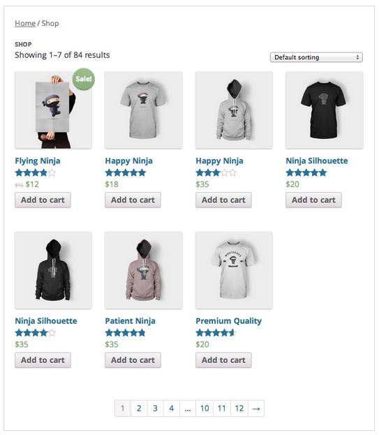 WordPress Shop WooCommerce