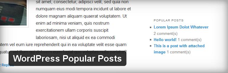 WordPress Plugin WordPress Popular Posts