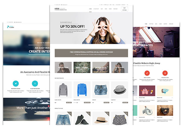 Lotusflower eCommerce Theme