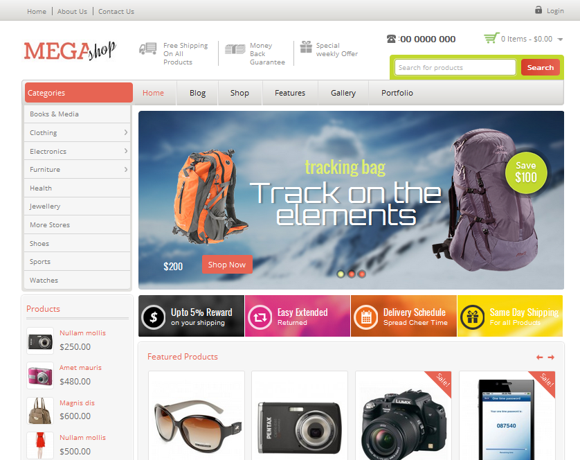 MegaShop eCommerce Theme