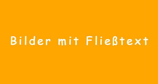 WordPress Bilder Fliesstext