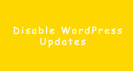 Disable WordPress Updates