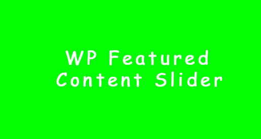 wp-featured-content-slider