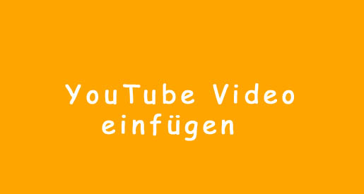 YouTube Video in WordPress einfuegen