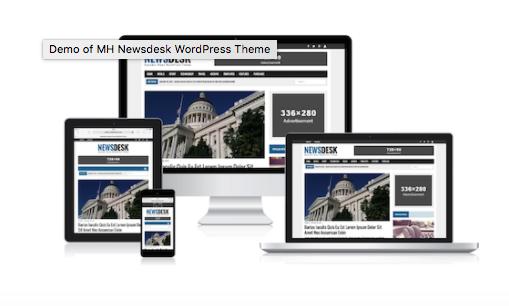 MH Newsdesk WordPress Theme